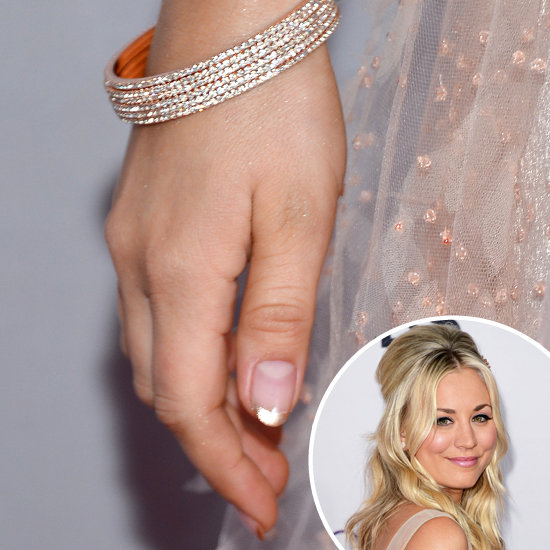 How to Do a Gold Tipped Manicure Like Kaley Cuoco