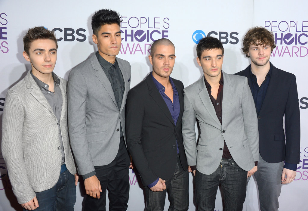 Nathan Sykes, Siva Kaneswaran, Max George, Tom Parker, and Jay McGuiness hit the red carpet together.