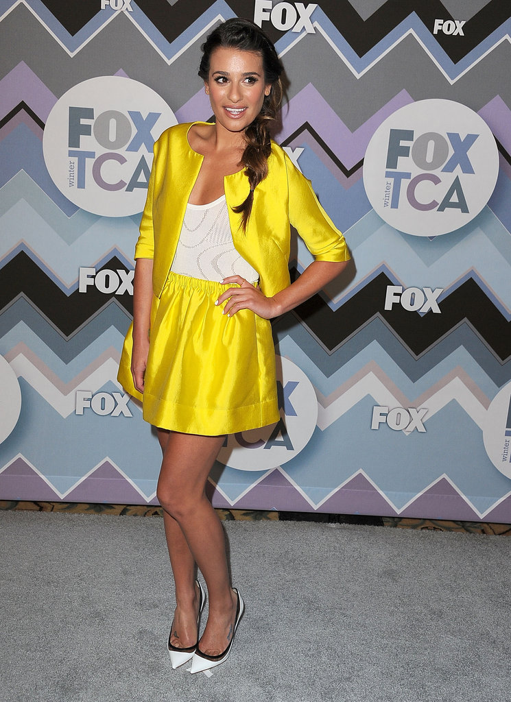 Lea Michele posed at the FOX All-Star Party.