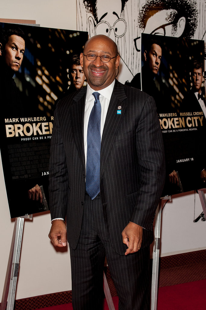 Michael Nutter helped Mark Wahlberg premiere Broken City in Philadelphia.