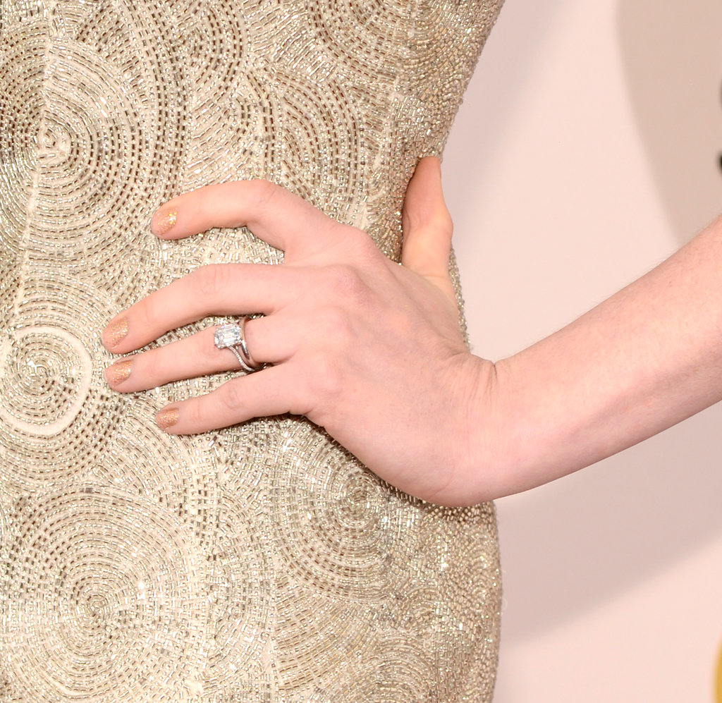 Anne Hathaway's wedding ring was on display.