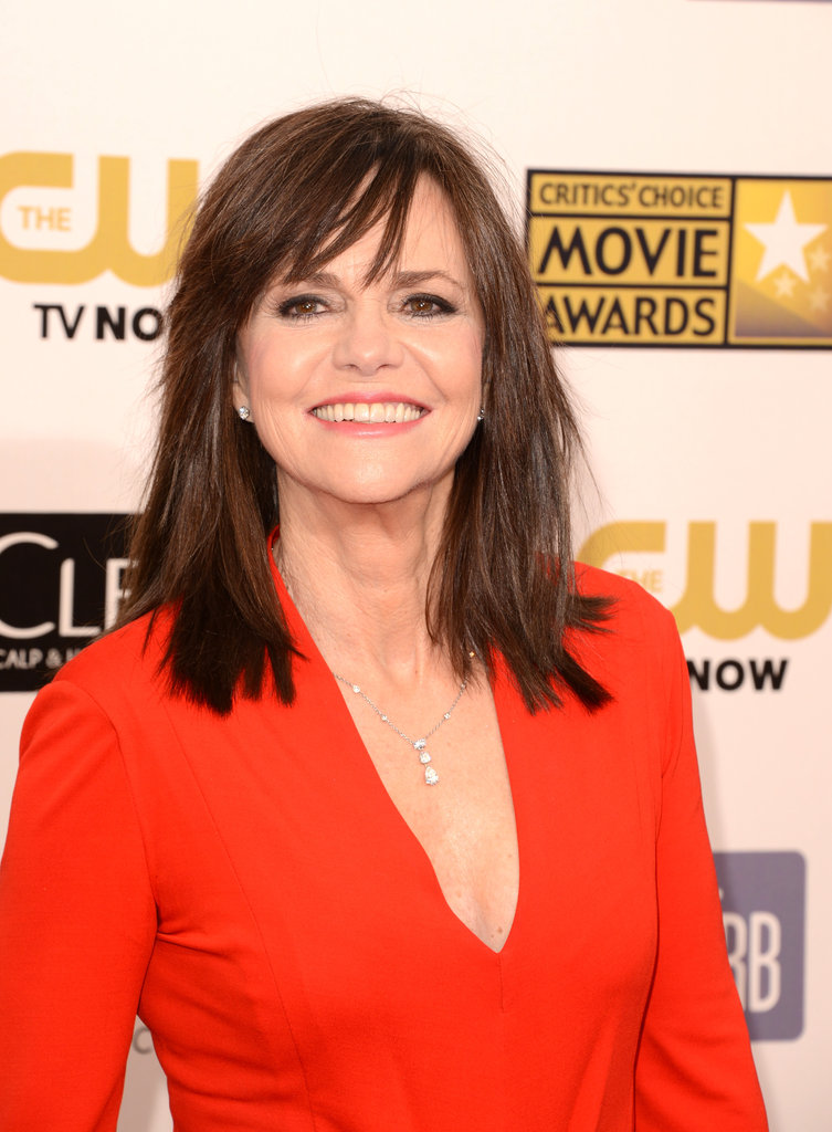 Sally Field wore a bright gown to the Critics' Choice Awards.