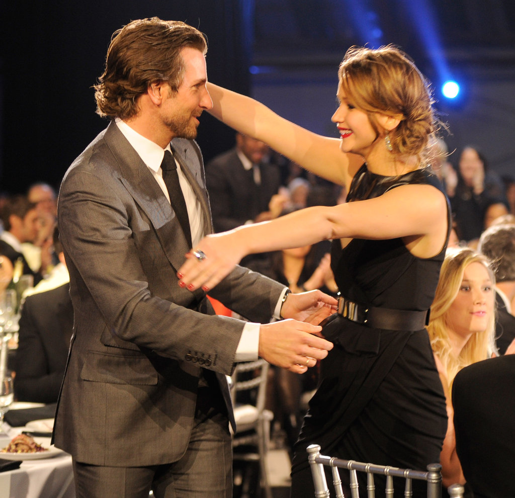 The loving embrace we got to witness between Jennifer Lawrence and Bradley Cooper in 2013.