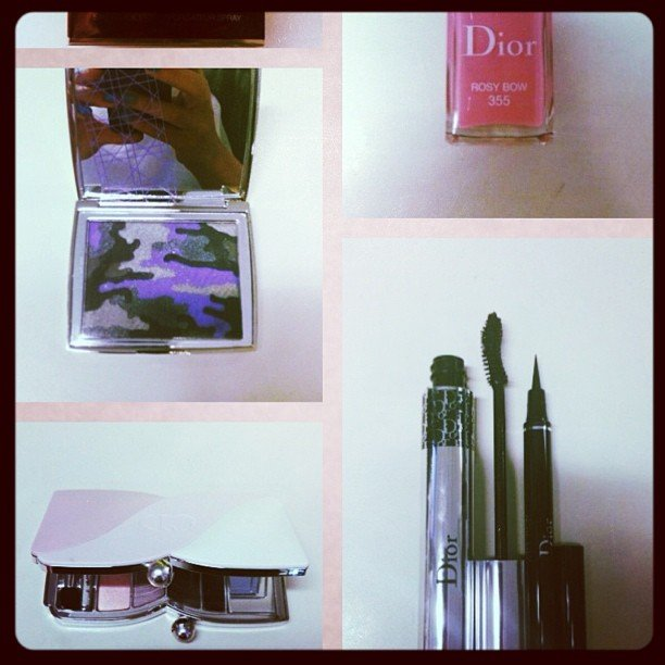 Alison received these Dior goodies and was mighty impressed — loving the feminine take on army colours. Keep clicking to see how the liner and mascara work!
