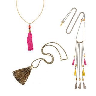 Accessory Trend: Olivia Palermo's Colourful Tassel Necklace