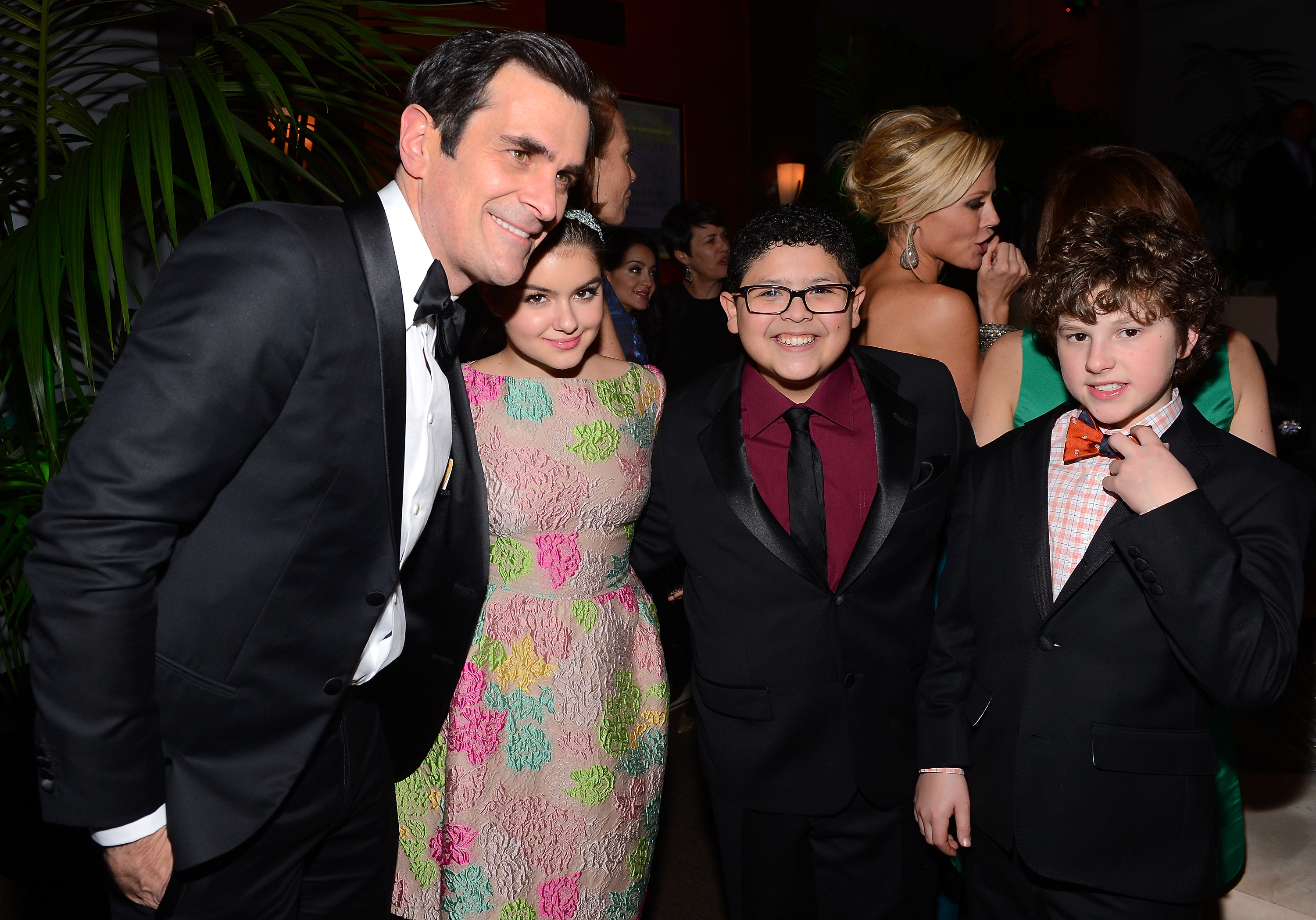 Ty Burrell, Ariel Winter, Rico Rodriguez, and Nolan Gould attended the Fox Network Golden Globes party.