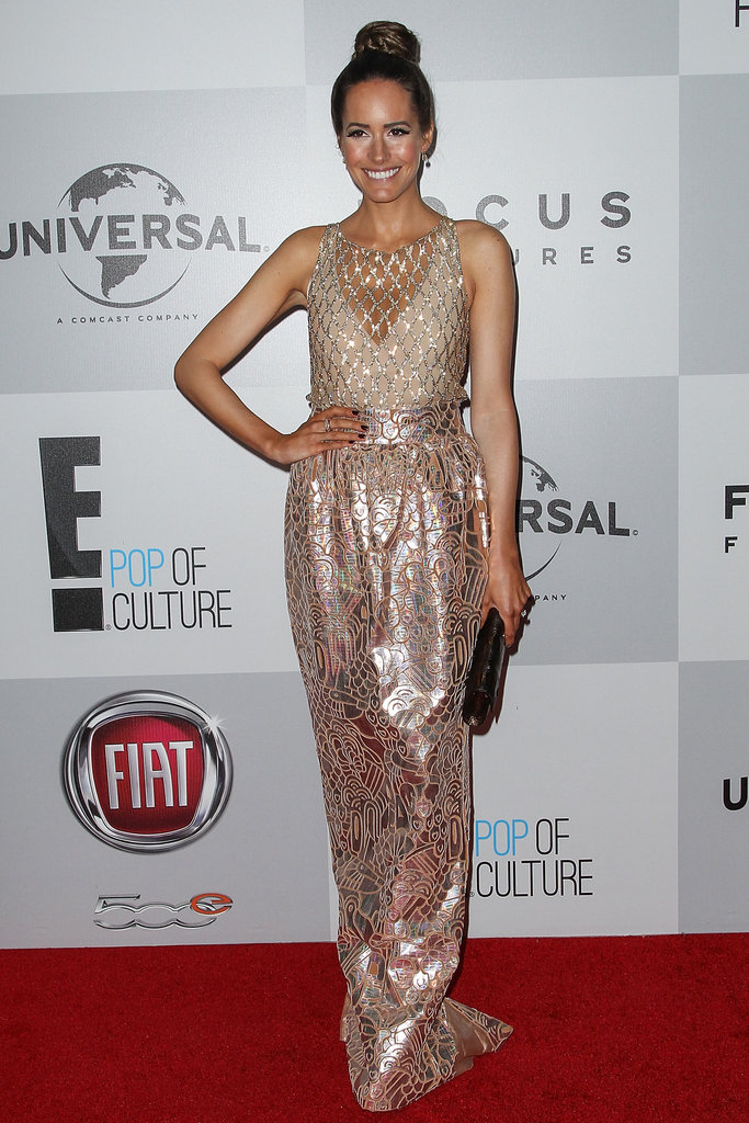 Louise Roe donned a shimmery gown.