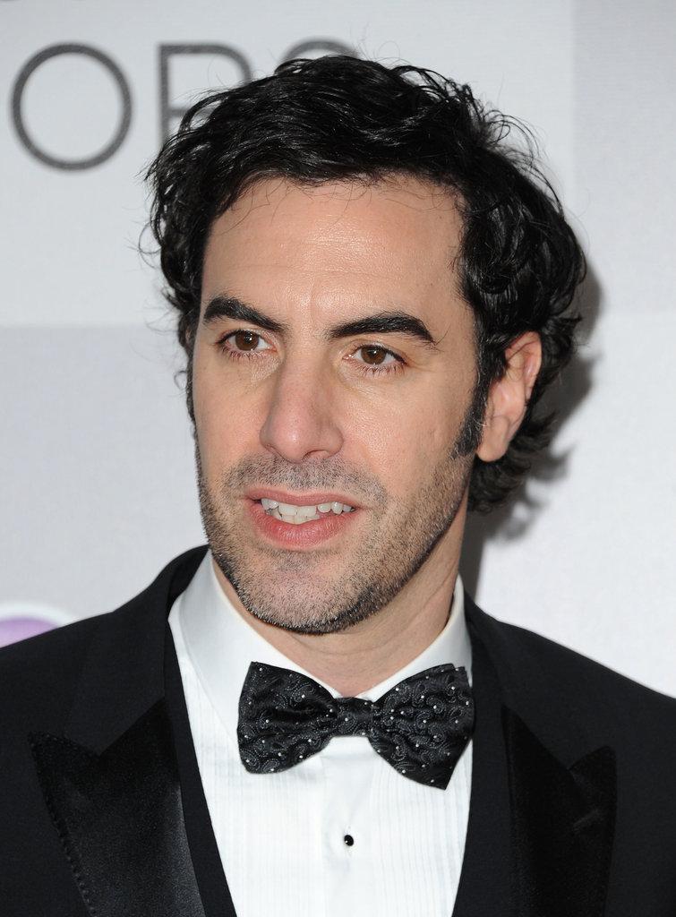 Sacha Baron Cohen sported a bow tie.