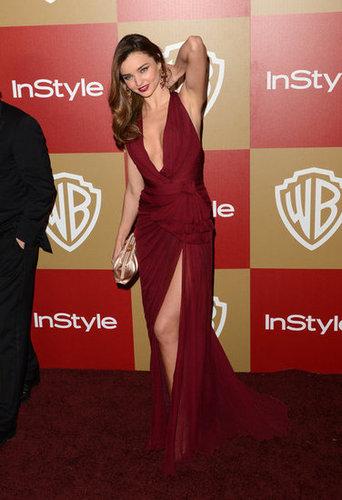 Miranda Kerr gave her hair a toss.