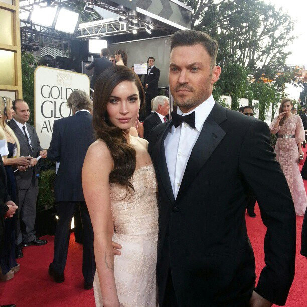 Power couple Megan Fox and Brian Austin Green scrub up alright! Source: Instagram user goldenglobes