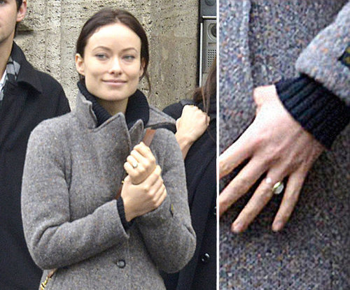 Olivia Wilde and Jason Sudeikis got engaged over the holidays in late 2012. Olivia showed off her antique ring while filming in Rome in January.