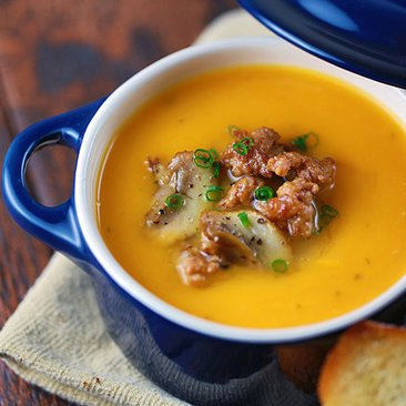 Butternut Squash Soup With Italian Sausage