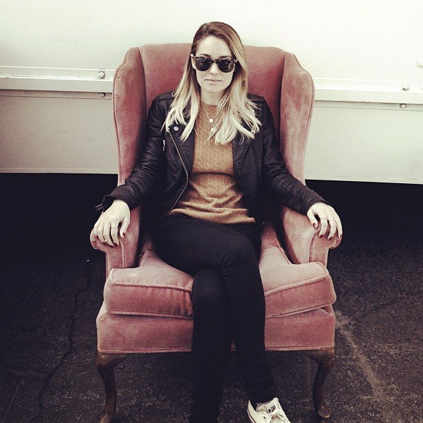 Lauren Conrad picked up a new chair from the flea market. Source: Instagram user laurenconrad