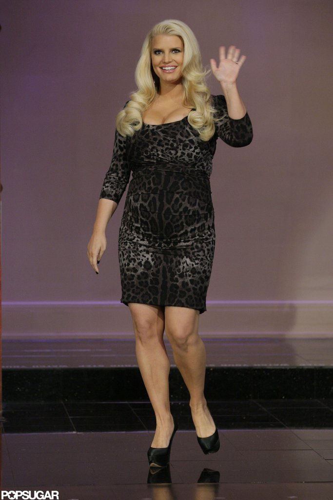 Jessica Simpson arrived on The Tonight Show.