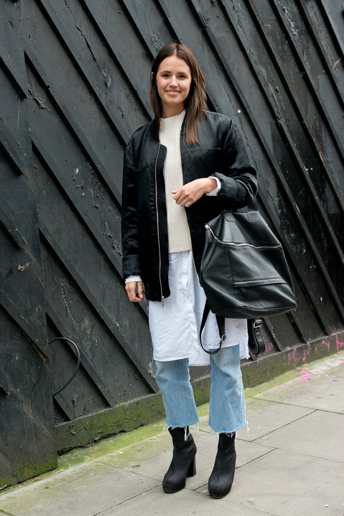 A mix of edgy and minimalist layers conjured up an unexpectedly cool-girl look.