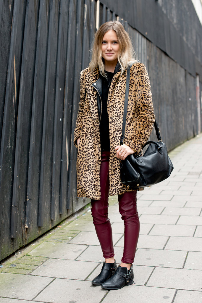 A leopard coat popped against red leather bottoms, while Chelsea boots provided the finish. How very Kate Moss, no?