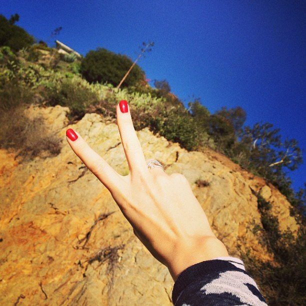 Nice nails. Is there anything Miranda Kerr doesn't have? Source: Instagram user mirandakerrverified
