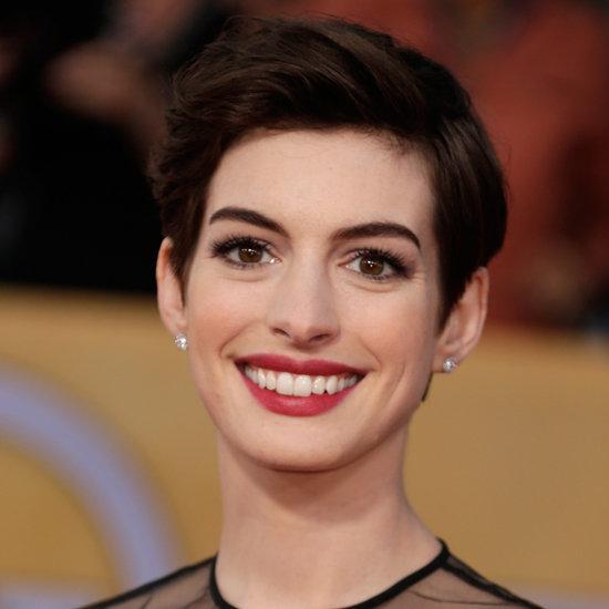 Anne Hathaway: SAG Awards Hair and Makeup 2013