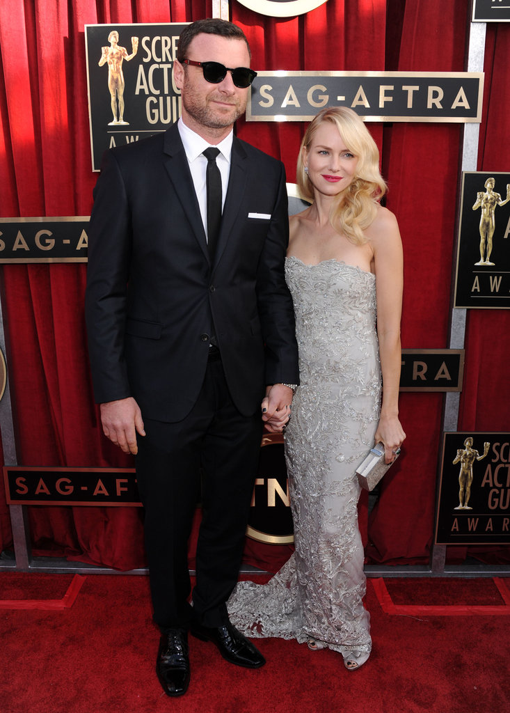 Naomi Watts and Liev Schreiber attended the SAG Awards in LA.