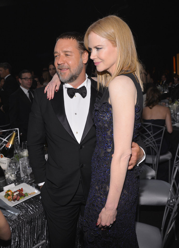 Nicole Kidman had her arm around Russell Crowe.