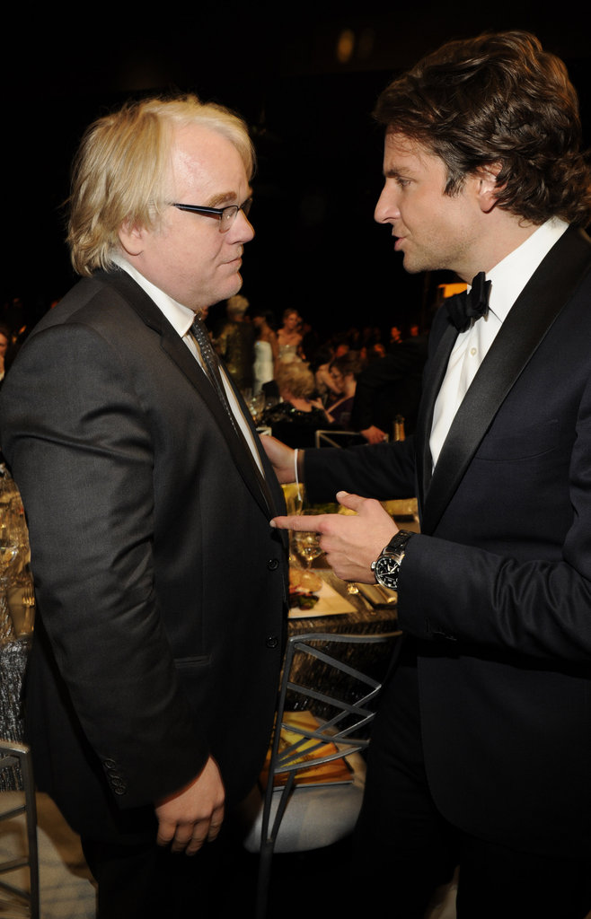 Bradley Cooper chatted with Philip Seymour Hoffman.