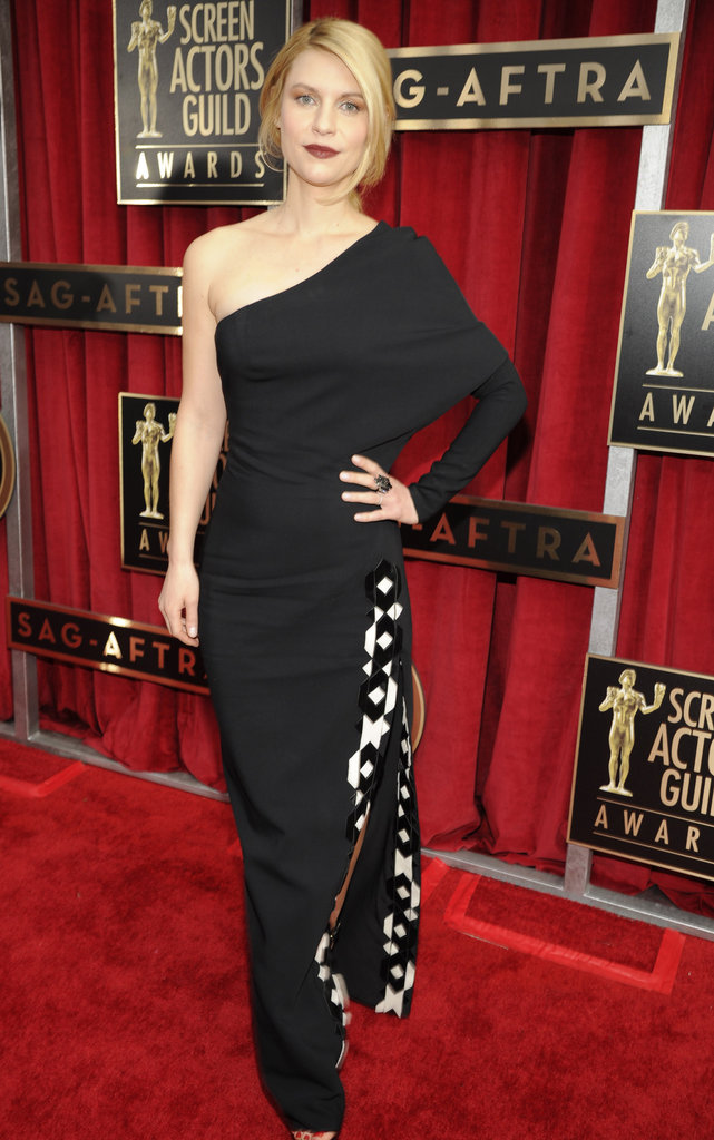 Claire Danes chose a Givenchy gown for the SAG Awards.
