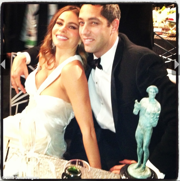 Sofia Vergara shared a sweet snap of herself and her fiancé, Nick Loeb. Source: Sofia Vergara on WhoSay