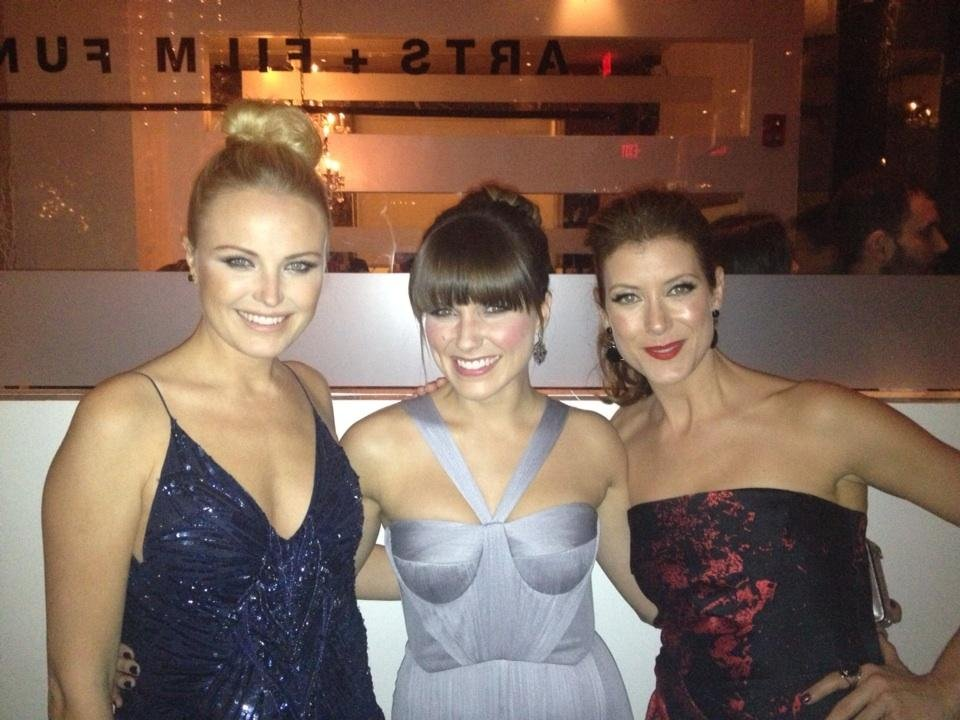 Malin Akerman, Sophia Bush and Kate Walsh attended an inauguration ball together. Source: Twitter user MalinAkerman