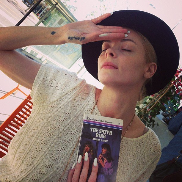 Jaime King swooned over a romance novel. Source: Instagram user jaime_king