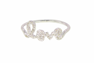 Wear your heart on your finger with this Sydney Evan diamond love script ring ($860).