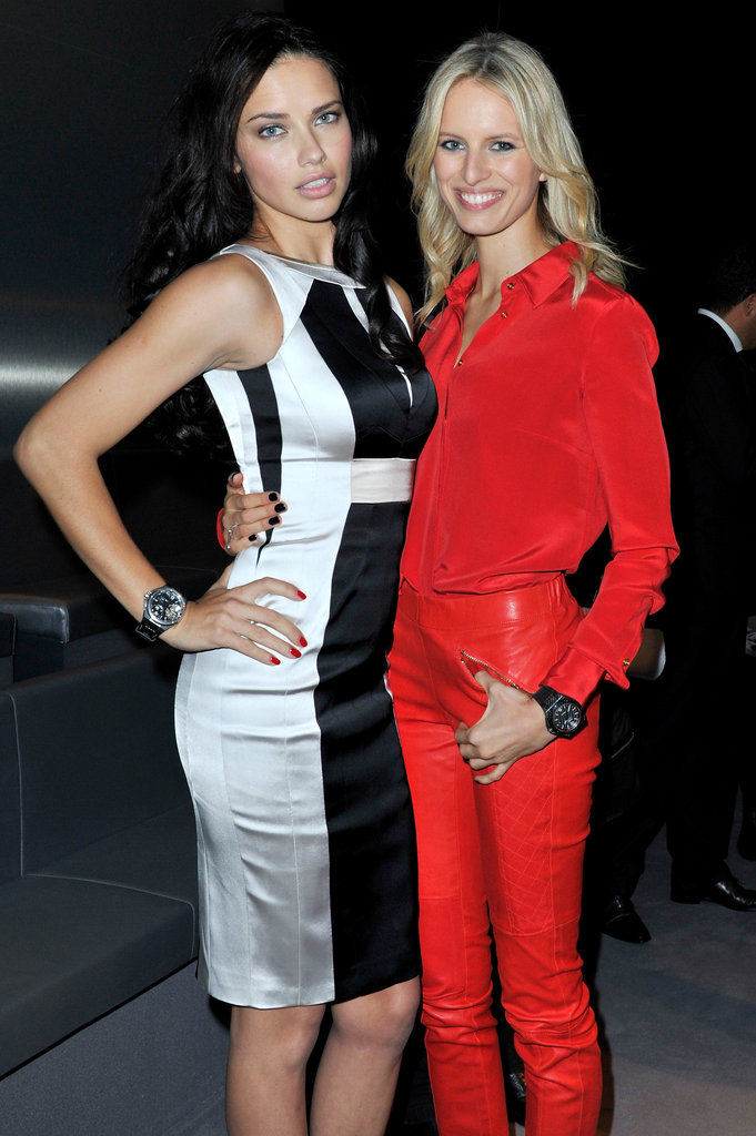 Adriana Lima and Karolina Kurkova posed together in Switzerland.