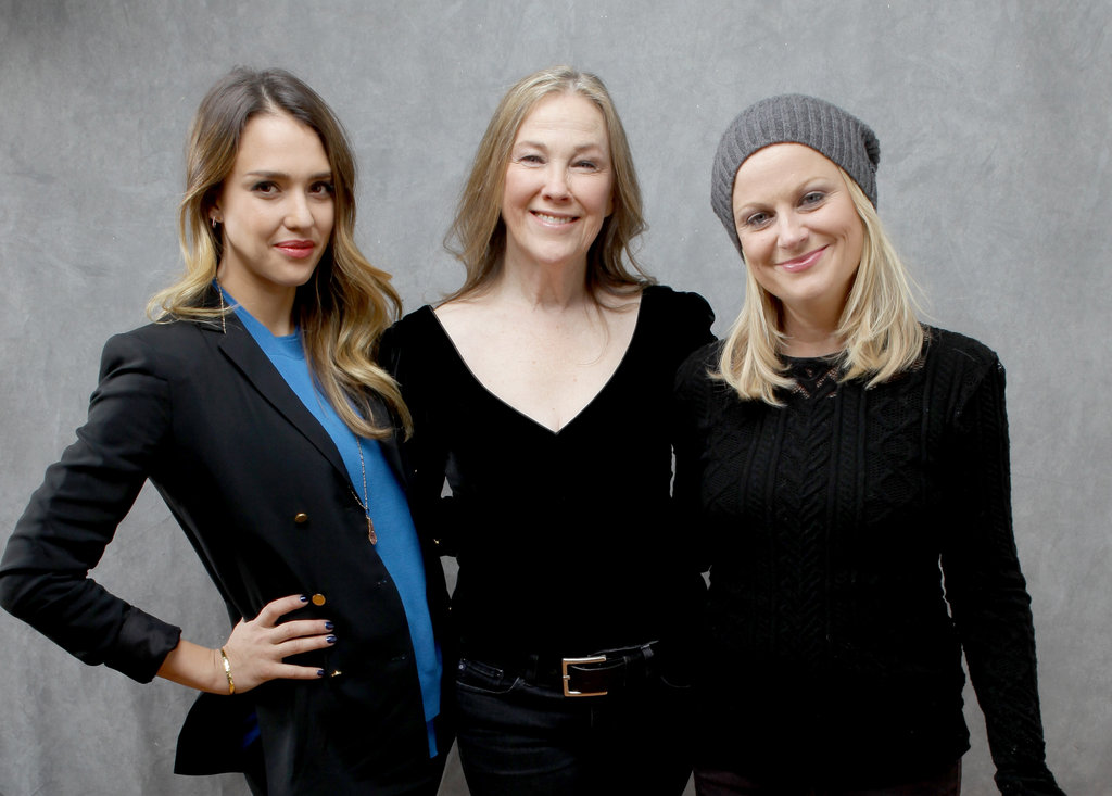 A.C.O.D ladies Jessica Alba, Catherine O'Hara and Amy Poehler looked sleek in black at the Utah film festival.