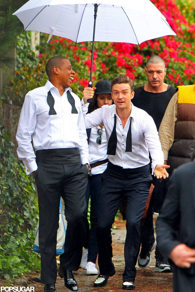 """Justin Timberlake and Jay-Z Let Loose on the Set of """"Suit & Tie"""""""