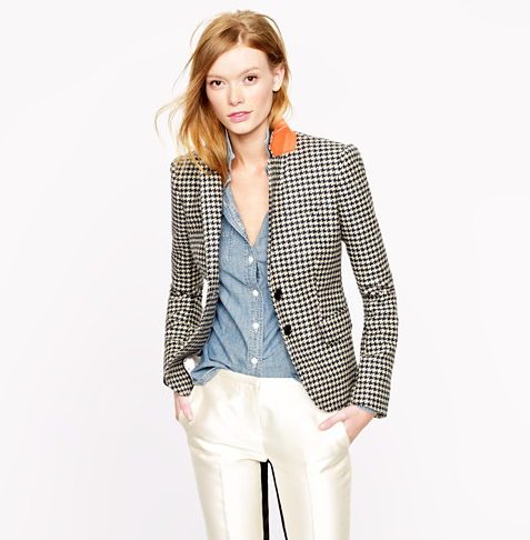 This J.Crew Collection Schoolboy Blazer in Houndstooth Wool ($150, originally $350) can be layered with a vest and cords for now, and simply paired with a loose tee and jeans once the temperature warms up.