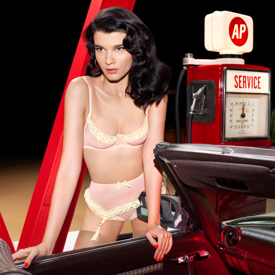 Crystal Renn plays the Pin Up for Agent Provocateur SS 2013