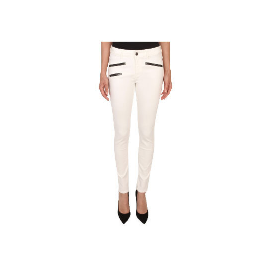 Try a pair of white skinnies if the weather is super warm where you are. They look instantly Summery and cool in that yes-I-never-spill-food-on-myself way. Team with tan leather accessories, classic sunnies and a white tank for optimum effect. Jeans, $169, SABA