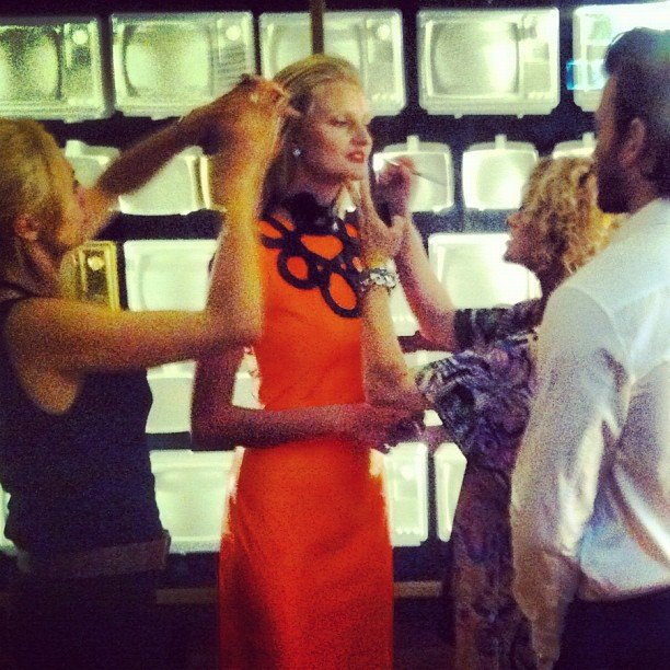 Behind the scenes of a Vogue photoshoot, starring Candice Lake and one absolutely divine Bally dress. Source: Tumblr user candicelake