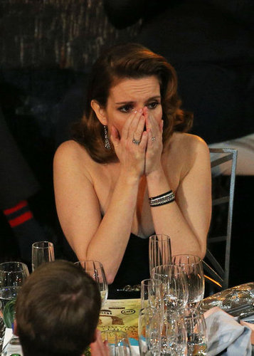 At the SAGs, Tina Fey couldn't believe it when her name was called as a winner for outstanding performance by an actress in 30 Rock.