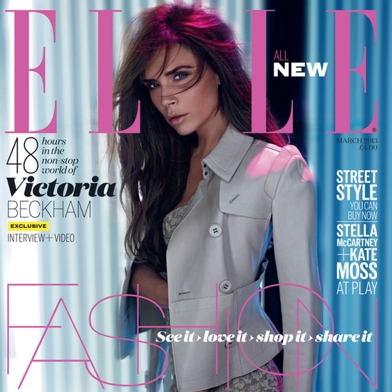 Victoria Beckham in Elle UK March 2013