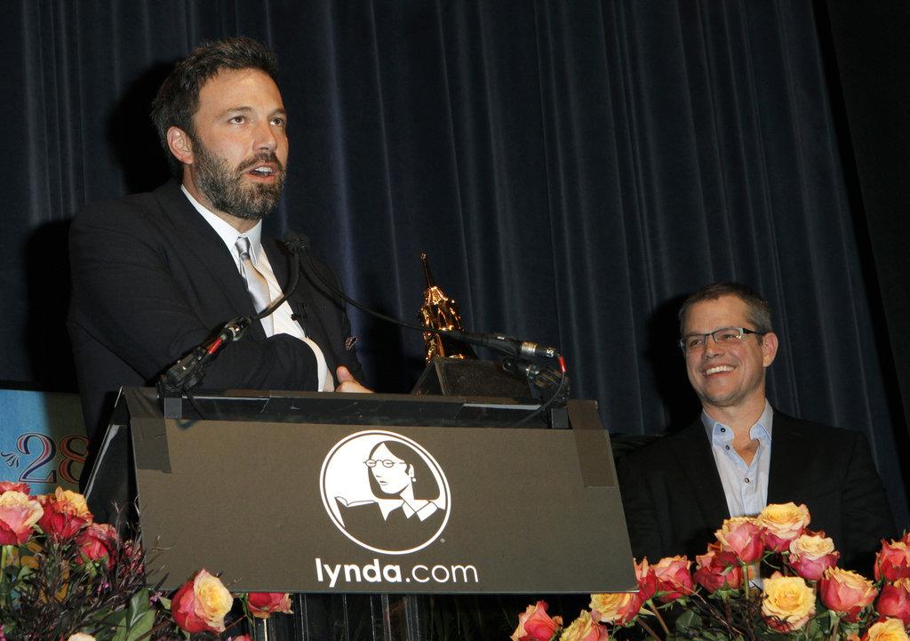 Matt Damon showed his support for pal Ben Affleck at the Santa Barbara Film Festival.