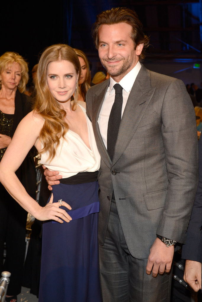 Amy Adams posed with Bradley at the Critics' Choice Awards in January.