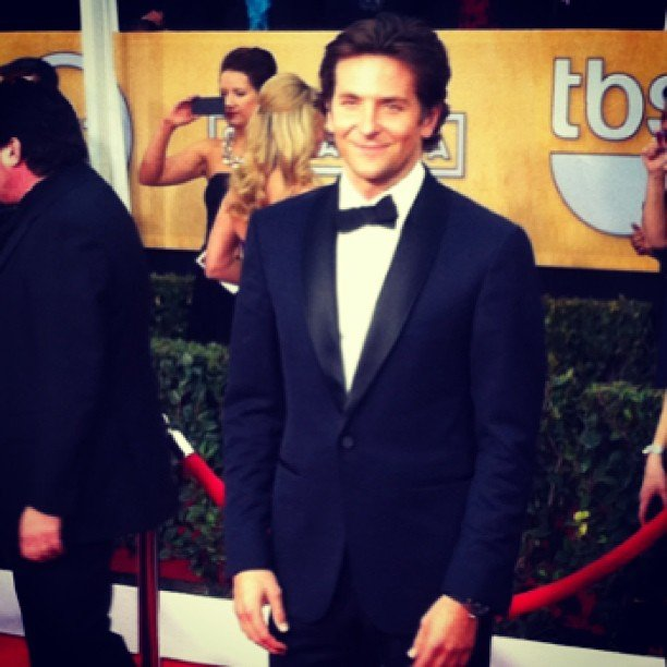Bradley Cooper looked dapper in a tux at the SAG Awards. Source: Instagram user popsugar