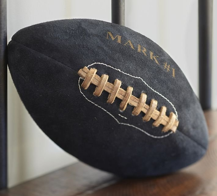 Pottery Barn Suede Football