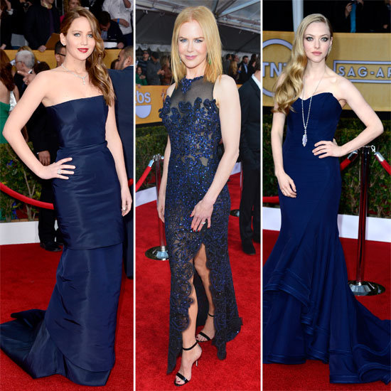 Navy Blue Trend Alert at 2013 SAG Awards red carpet