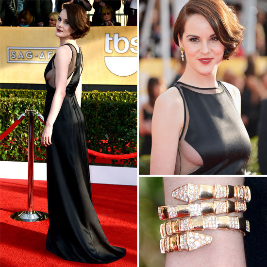 Michelle Dockery Dons Vintage Chado Ralph Rucci at SAGS