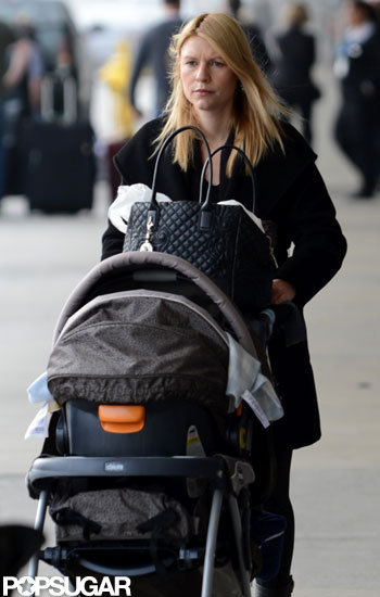 Claire Danes pushed baby Cyrus Dancy in his stroller at LAX.