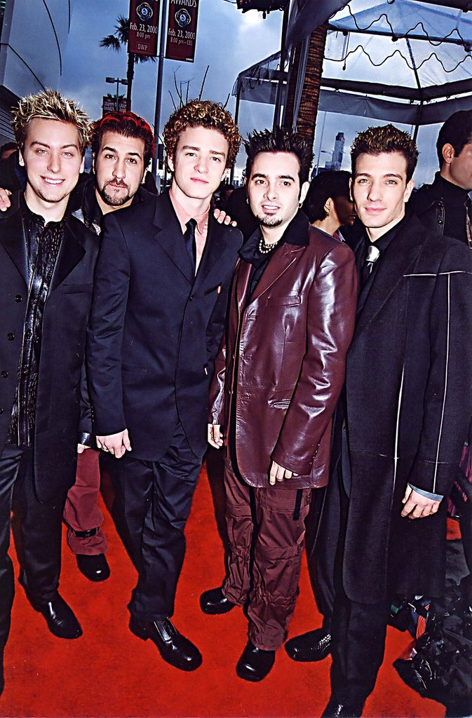 Sigh — the good old days. Justin hit the red carpet with his *NSYNC bandmates in 2000, marking what would be the kickoff for lots of suit-and-tie moments to come.