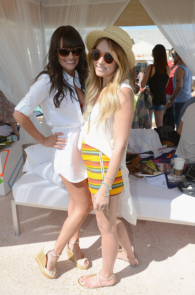 Lauren partied alongside Lea Michele at Coachella in 2012 — we love her striped Free People shorts and straw hat. Lesson from Lauren: add a personal twist when dressing for the occasion.