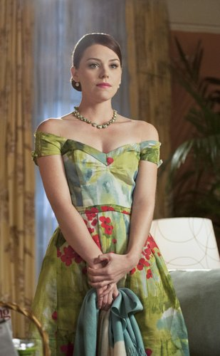 Annabeth looked prim and proper in her floral watercolor Rubber Ducky dress, glistening J.Crew necklace, and sleek chignon. Take a page from Annabeth's polished playbook by working this floral off-the-shoulder Vivienne Westwood top ($363) with a pair of skinny jeans and bold ankle-strap wedges.