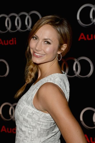 Stacy Keibler looked angelic at the Audi Celebrates the Super Bowl event on Friday night in New Orleans.